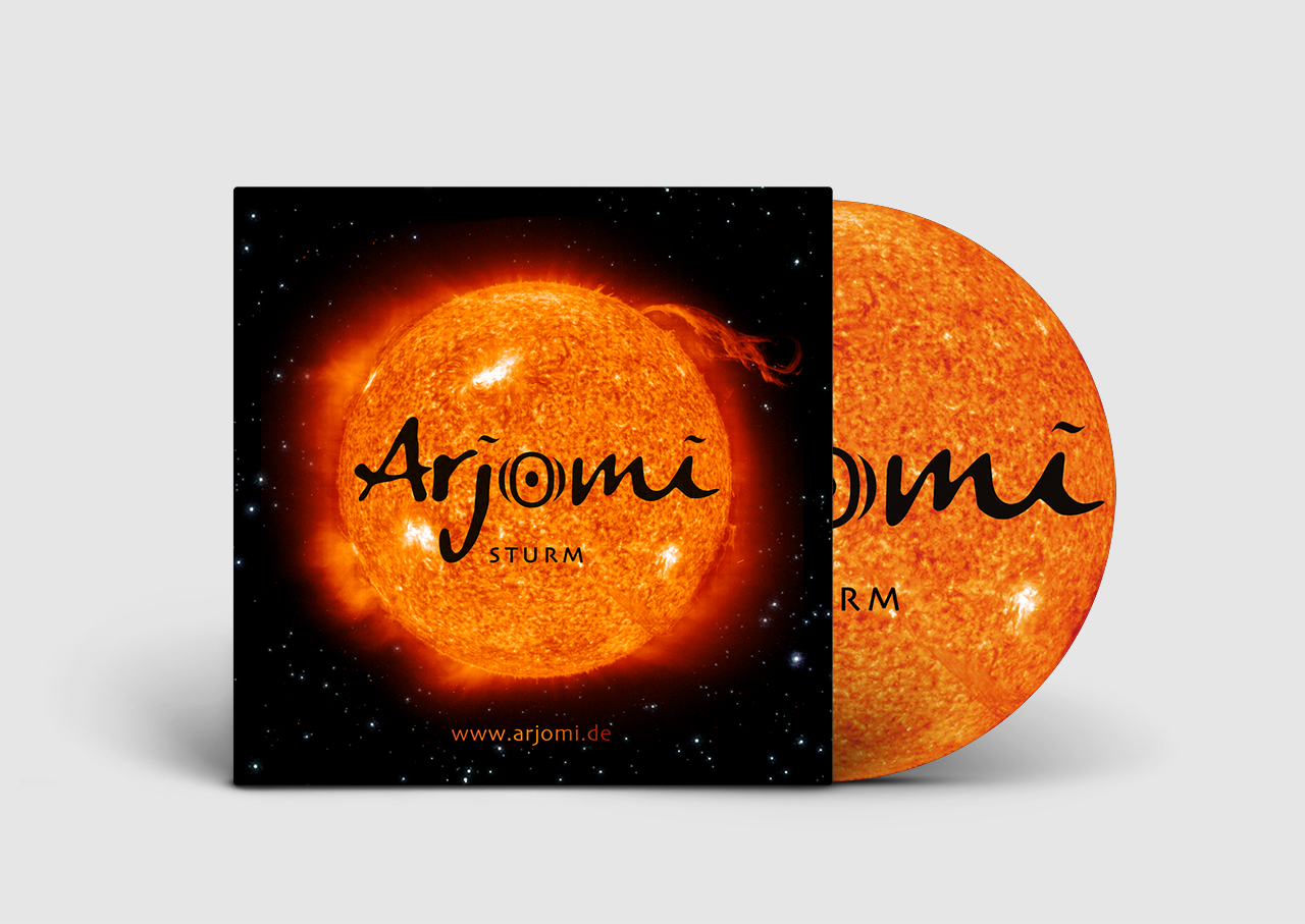 Grafik Design Alexandra Siebert CD Cover Design für Weltmusik Gruppe Arjomi Braunschweig