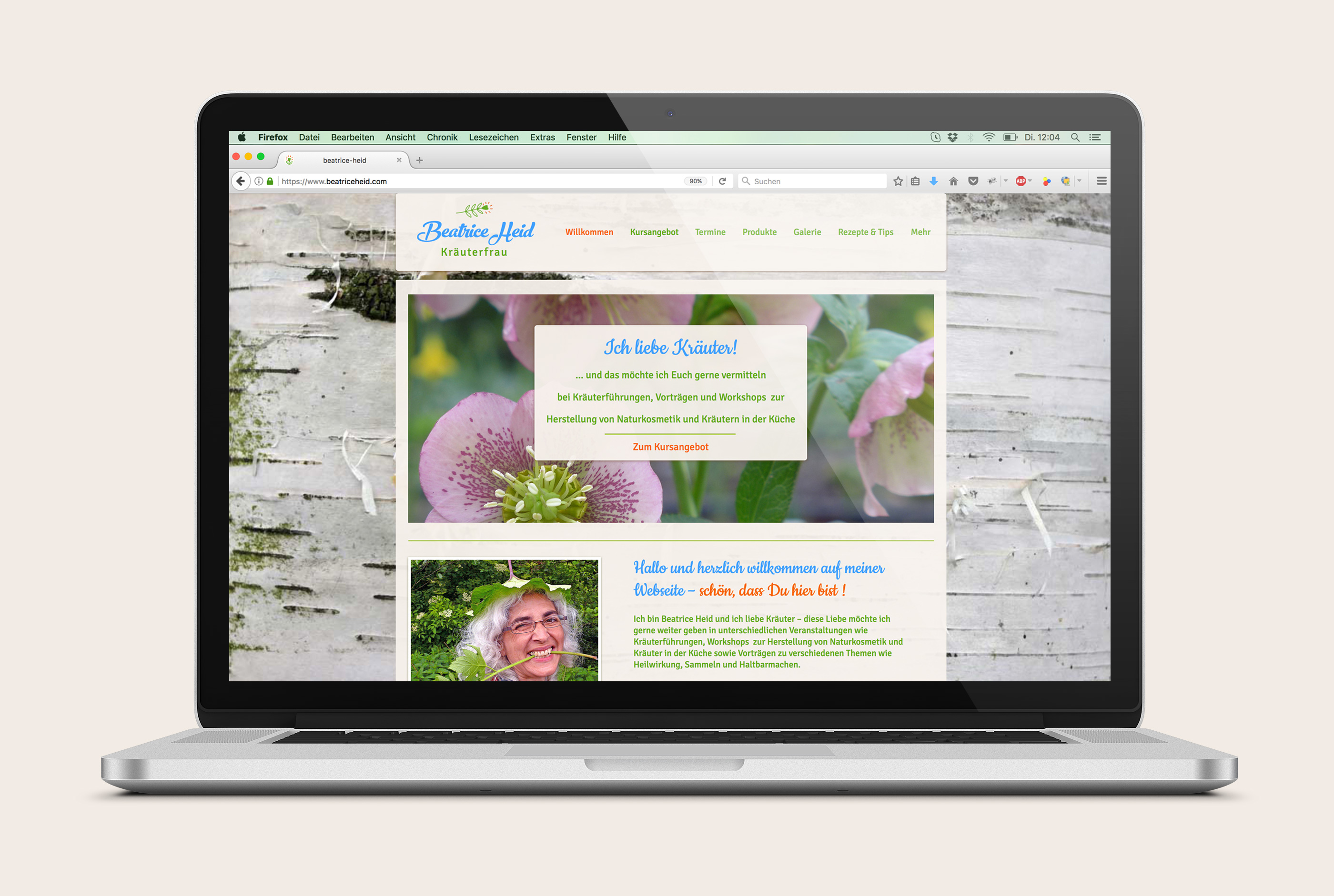 Web Design Alexandra Siebert für Beatrice Heid Kraeuterfrau
